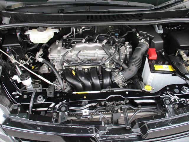 Super CVT-i低燃費と高い動力、変速ショックのないすばやい変速応答性。車速やアクセル変化から爽快な走りを演出。タイミングチェーン お越しの際は是非エンジンルームも見てください!ピカピカです!