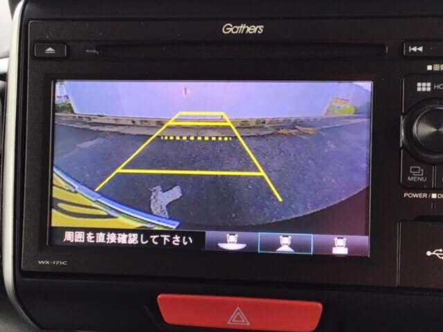 便利な3ビュー切り替え、ガイド線表示付きのバックカメラです!後退時、後方の視界をサポートします!