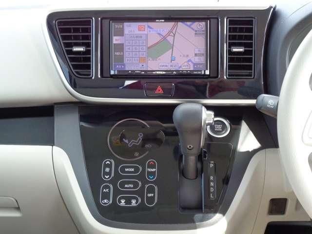 G ナビゲーション・スマートキー Bカメラ ベンチシート ナビTV キーフリー ABS 横滑り防止装置 盗難防止システム オートエアコン ワンセグ スマートキー付き メモリーナビ付 I-STOP(9枚目)