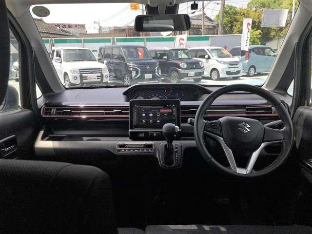 ハイブリッドX 全方位モニター・衝突被害軽減B・ETC ナビ付 Bカメ 運転席シートヒーター AW スマートキープッシュスタート ETC ベンチS エアコン ABS キーレス フルフラット 記録簿 ESP付 1オナ(11枚目)