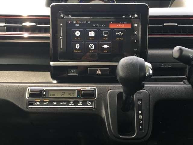 ハイブリッドX 全方位モニター・衝突被害軽減B・ETC ナビ付 Bカメ 運転席シートヒーター AW スマートキープッシュスタート ETC ベンチS エアコン ABS キーレス フルフラット 記録簿 ESP付 1オナ(12枚目)