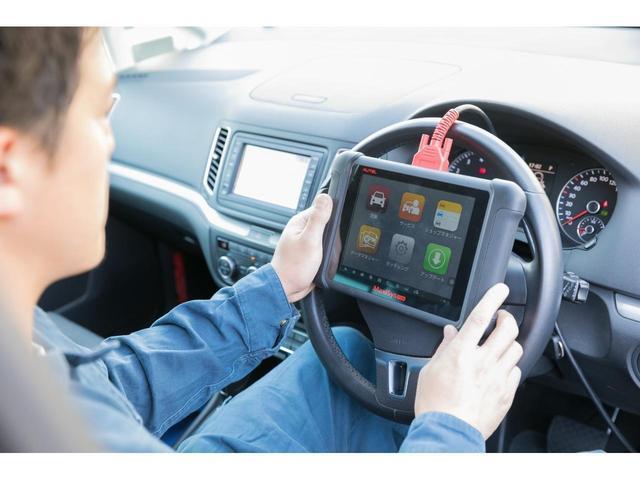 フォルクスワーゲンに対応した車輌診断テスターで車両のコンピューター内部まできっちり点検致します!!