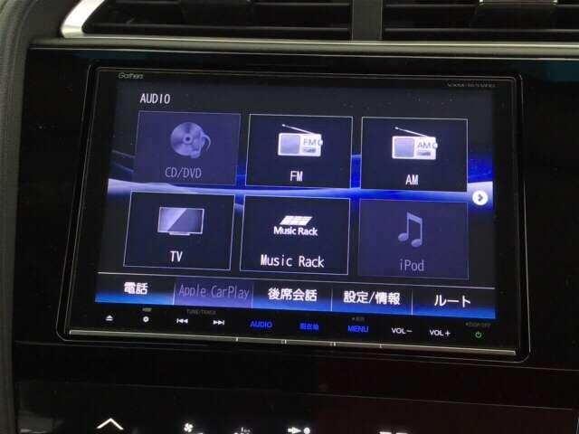 ナビ機能だけでなく、ミュージックサーバー、Bluetooth、フルセグテレビ、DVDとCD再生など、オーディオ機能がついています。