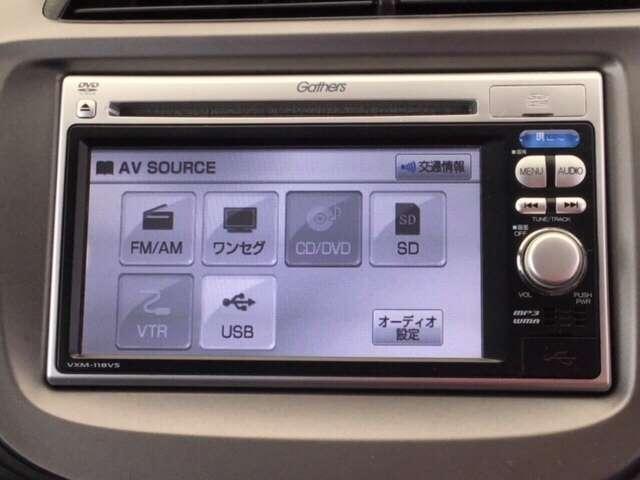 ナビ機能だけでなく、ワンセグ、USB接続、DVDとCD再生などのオーディオ機能がついています!