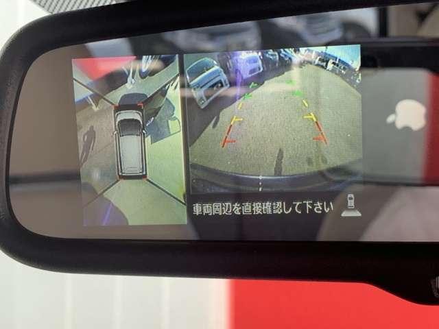 アラウンドビューモニター付きなので駐車が苦手なお客様でも安心してお乗りいただけますよ