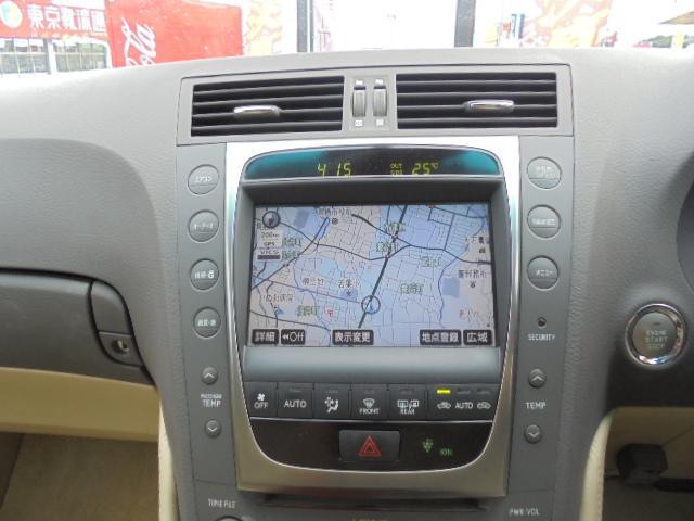 レクサス GS GS350 バージョンI・後期・純正HDDマルチ・ベージュ革
