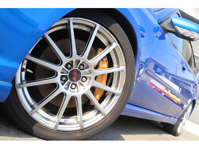 tuned by STI HKS車高調 STIマフラー STIターボ計 タイミングベルト交換済 純正18AW リアスポイラー ブレンボキャリパー ハーフレザーシート HIDヘッドライト HDDナビ フルセグ MSV(6枚目)