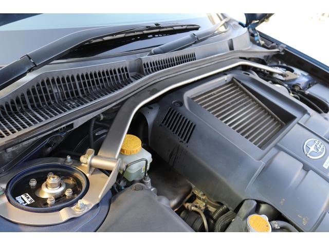 tuned by STI HKS車高調 STIマフラー STIターボ計 タイミングベルト交換済 純正18AW リアスポイラー ブレンボキャリパー ハーフレザーシート HIDヘッドライト HDDナビ フルセグ MSV(45枚目)