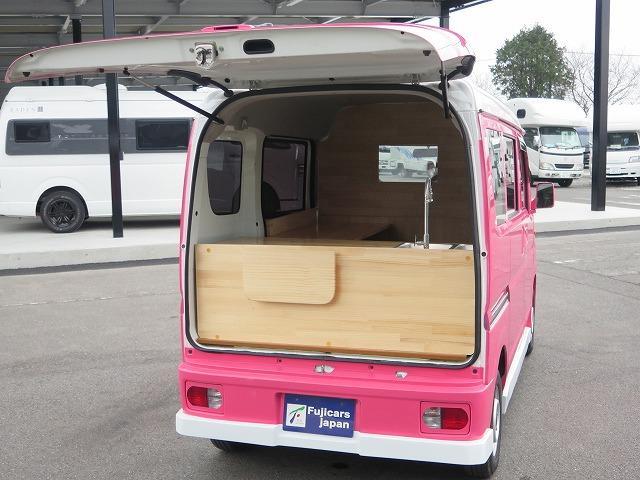 移動販売車 キッチンカー フレンチバス仕様 オールペイント ケータリングカー 8ナンバー エアロパーツ 販売用テーブル 2槽シンク 給排水タンク 3連収納ボックス 100Vコンセント 運転席背板 キーレス(37枚目)