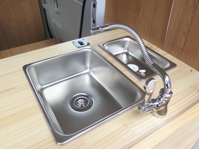 2槽シンク装備! 手洗い用と食品用に分けて使えます〇