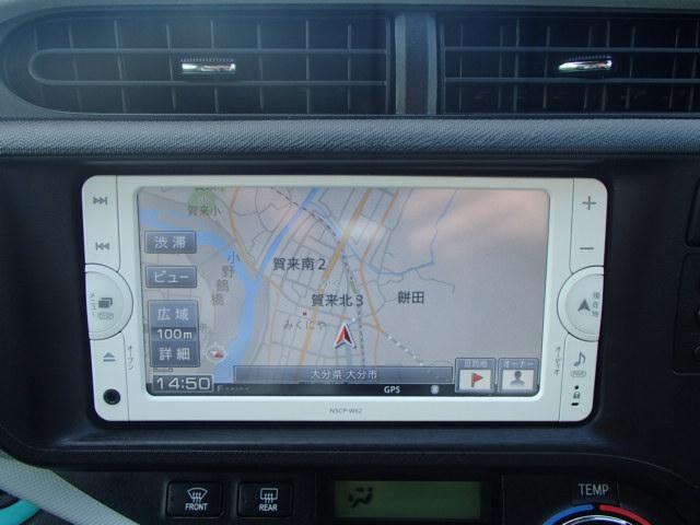 トヨタ アクア S メモリーナビ テレビ ETC キーレス コーナーセンサー