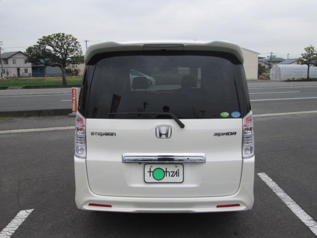 ホンダ ステップワゴンスパーダ Z HDDナビ 両側パワースライドドア 黒革調シートカバー