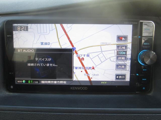 プラタナ 片側パワースライドドア フリップダウンモニター 社外メモリーナビ フルセグ DVD再生 CD Bluetooth ETC オートライト HID キーレス バックカメラ タイミングチェーン 7人乗り(19枚目)