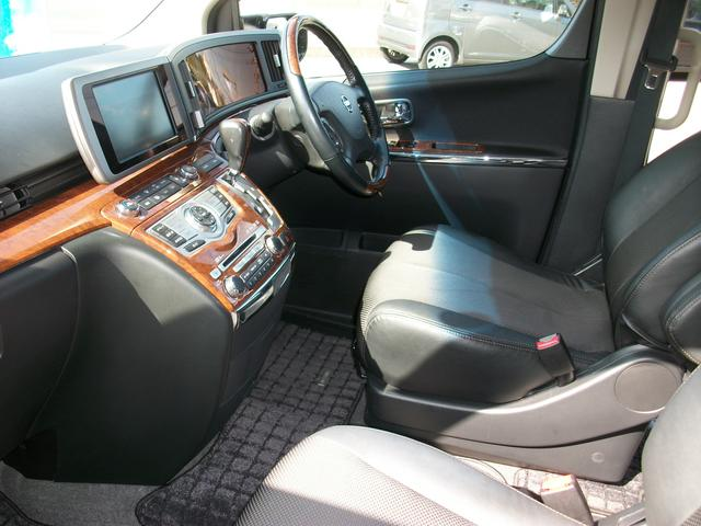 日産 エルグランド 250ハイウェイスター 純正HDDナビ 社外アルミ マフラー