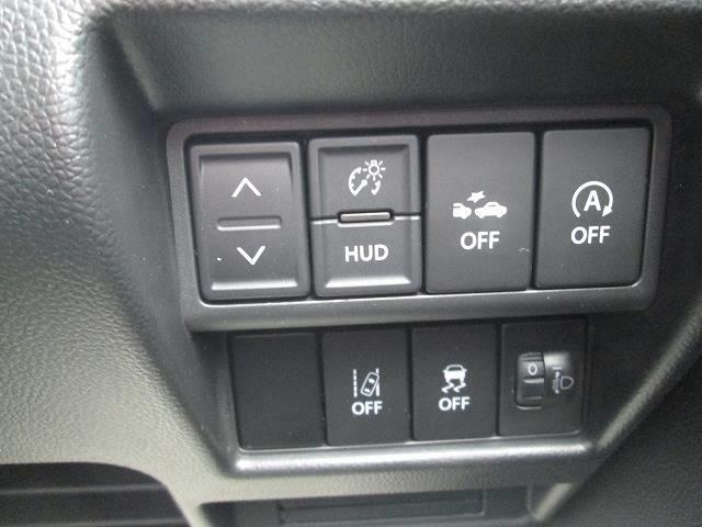 ハイブリッドFX セーフティーパッケージ デュアルセンサーブレーキ レーンアシスト オートライト ヘッドアップディスプレイ アイドリングストップ 純CD シートヒーター 横滑り防止装置 スマートキー プッシュスタート(14枚目)