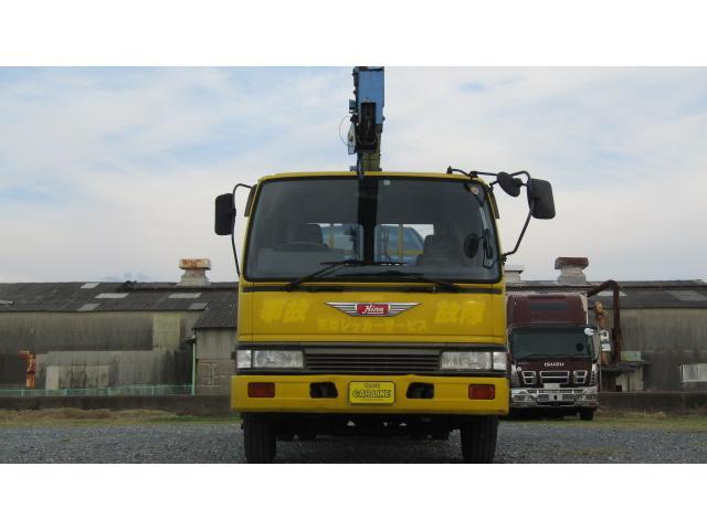 日野 レンジャー 花見台製積載車 タダノ3段フックイン