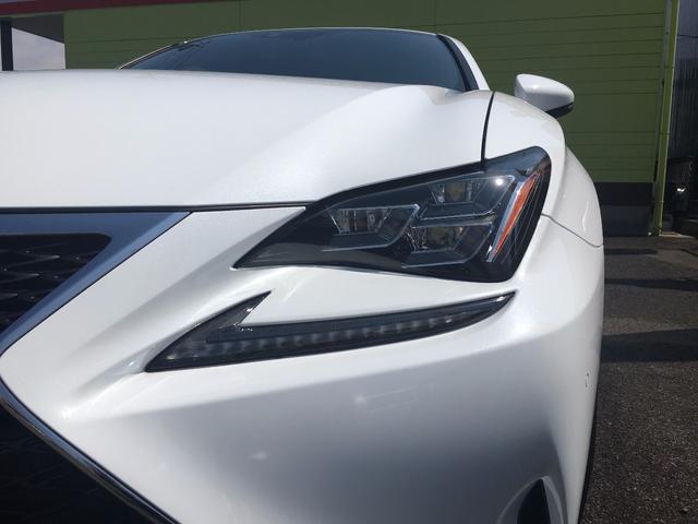 レクサス RC RC300h Fスポーツ 減衰調整付車高調 ナビ Bカメラ