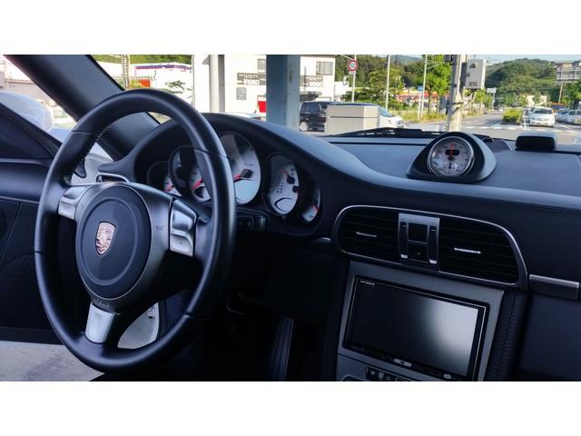 ポルシェ ポルシェ 911ターボティプトロ二クSスポーツクロノPGK紺レザー