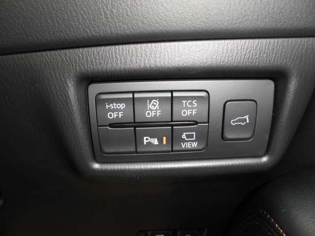 ステアリング横の画像です 車両の安全装備等がON/OFF出来ます!