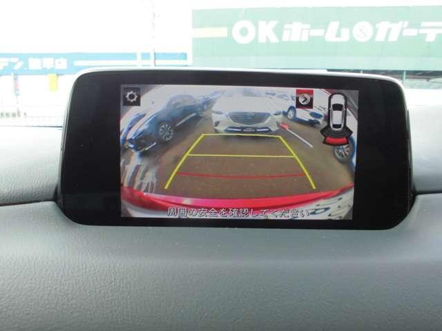 バックカメラ ガイドライン付ですので車の挙動予測や後方の障害物の確認ができます。安心ですね!