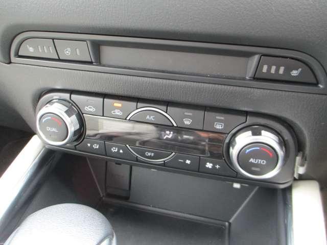 ハンドルヒーター・シートヒーターに左右別々の温度設定が出来るオートエアコンです