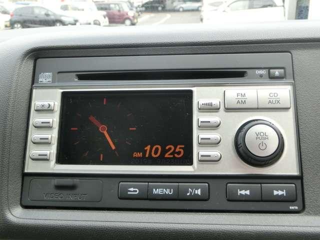 バックモニター付きCD・ラジオが付いています。