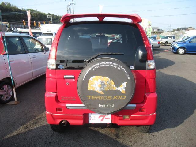 ダイハツ テリオスキッド カスタムL 純正15AW CD エアロ 背面タイヤ