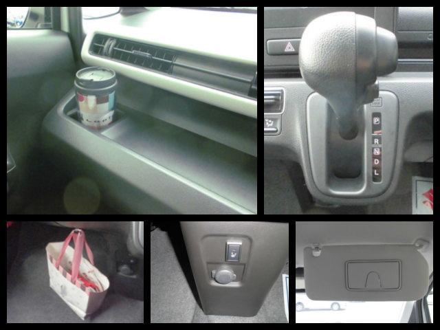 【助手席オープントレー】・【ショッピングフック】・【サンバイザーチケットホルダー】など充実収納で車内すっきり。