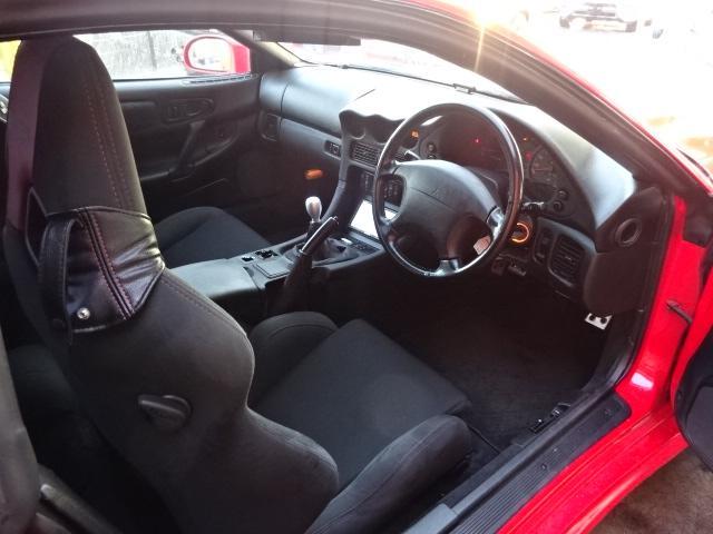 ツインターボMR サンルーフ レカロシート 車高調 社外20インチアルミ 4本出しマフラー ダクト付きボンネット フロントフェンダー(6枚目)