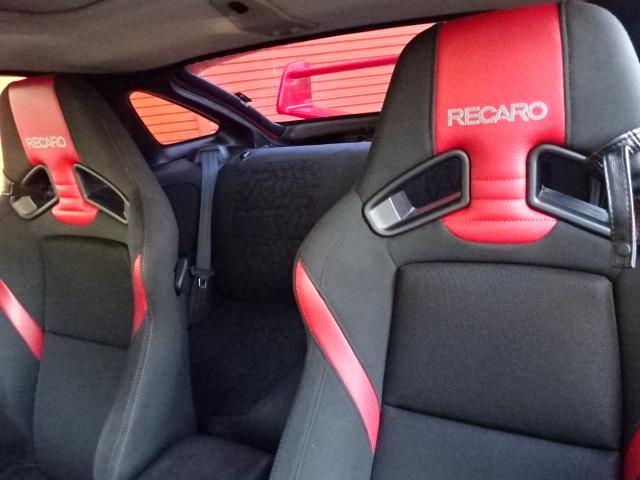 ツインターボMR サンルーフ レカロシート 車高調 社外20インチアルミ 4本出しマフラー ダクト付きボンネット フロントフェンダー(11枚目)
