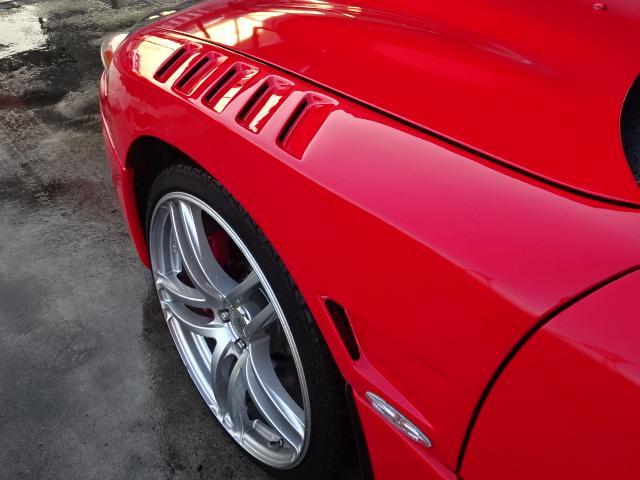 ツインターボMR サンルーフ レカロシート 車高調 社外20インチアルミ 4本出しマフラー ダクト付きボンネット フロントフェンダー(15枚目)