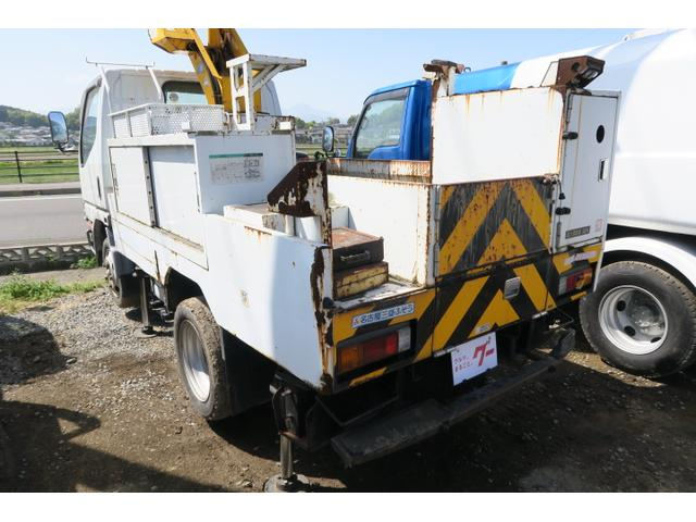 三菱ふそう キャンター 全低床SA 高所作業車 バックモニター 積載荷重200kg
