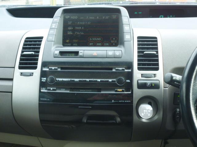 トヨタ プリウス Gツーリングセレクション 純正HDDナビ 純正アルミ