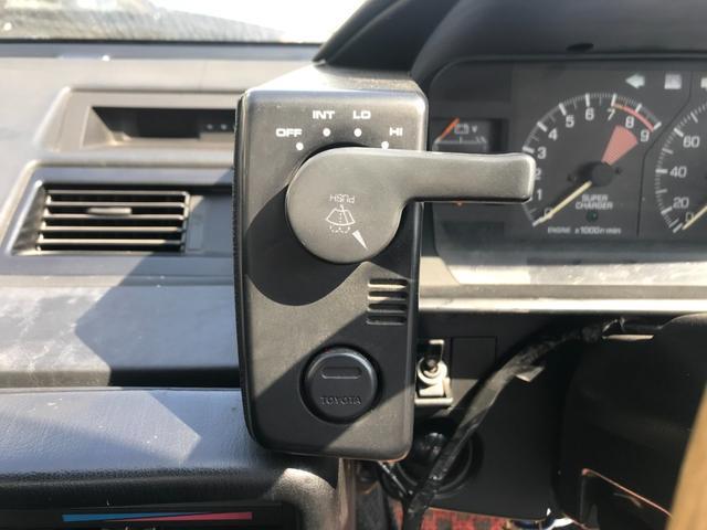 Gリミテッド スーパーチャージャー 全塗装済み・社外15インチAW・社外エアロ・HKSマフラー&エアクリーナー・社外ハンドル・パワーウィンドウ・エアコン・5速マニュアル(18枚目)