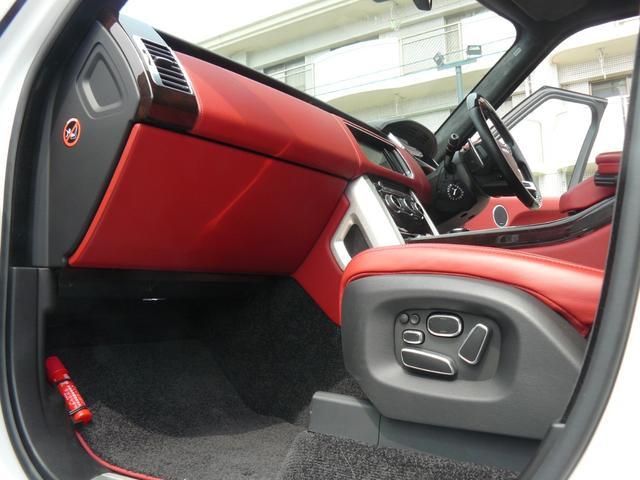 オートバイオグラフィー 赤革シート スライディングパノラマルーフ 電動サイドステップ ETC ソフトドアクローズ アダプティブクルーズコントロール メリディアンサウンド 社外22インチアルミ(17枚目)