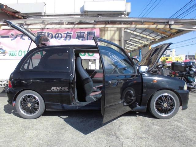 RX-R TRUSTマフラー 社外14アルミ ローダウン車(9枚目)