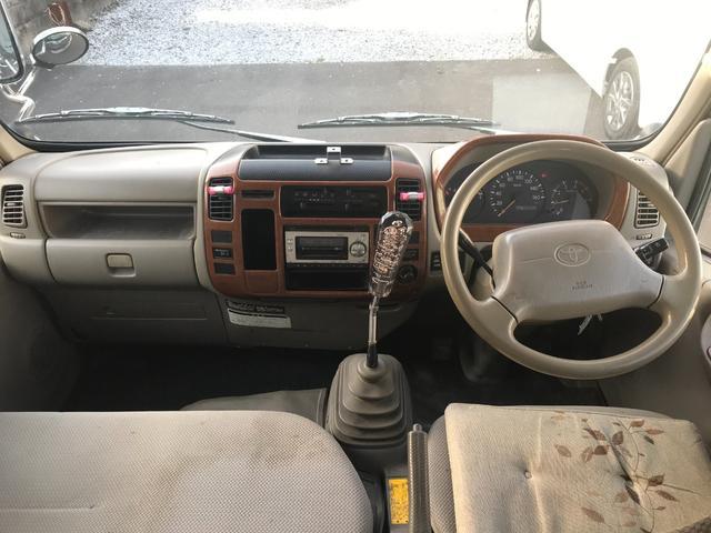 Wキャブロング 1.0tディーゼル 4WD 5速マニュアル車 6人乗り メッキパーツ CDオーディオ(17枚目)