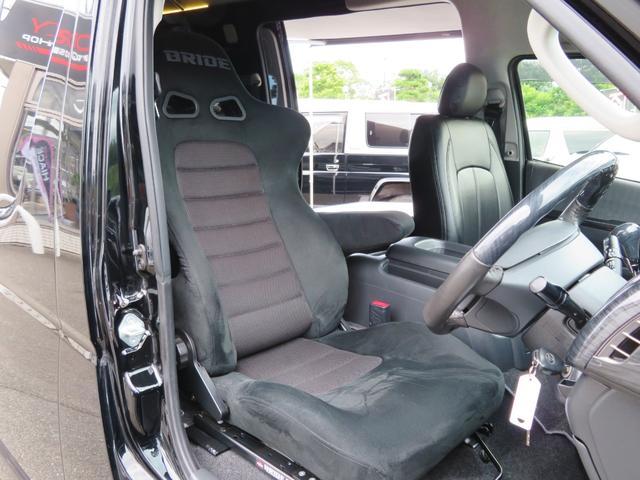 キャンパー特装車 4WD 8人乗りキャンピング登録車 サイドタープ パワースライドドア BRIDEシート 純正HIDヘッドライト 17インチAW ボンネット 地デジナビ フリップダウンモニター(8枚目)