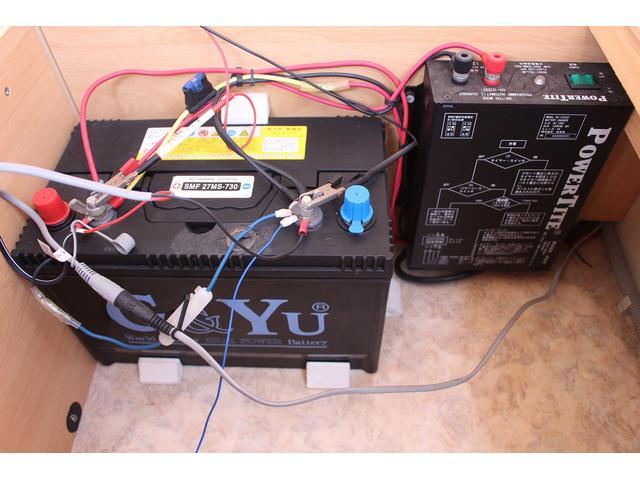 シングルサブバッテリー 外部充電 130Wインバーター