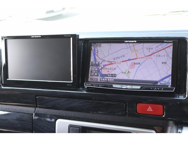 ベッドキット REVOシート 3列目シート外し GLベース ローダウン2インチブロック 構造変更済 ツインモニター レザー調シートカバー LEDテール ウッド調インテリアパネル フリップダウンモニター LEDヘッドライト パワースライドドア(11枚目)