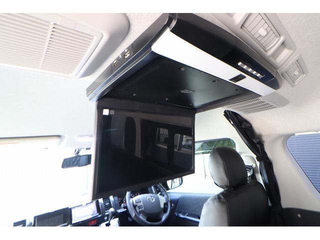 ベッドキット REVOシート 3列目シート外し GLベース ローダウン2インチブロック 構造変更済 ツインモニター レザー調シートカバー LEDテール ウッド調インテリアパネル フリップダウンモニター LEDヘッドライト パワースライドドア(14枚目)