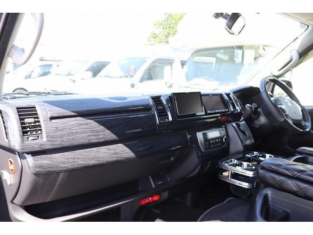 ベッドキット REVOシート 3列目シート外し GLベース ローダウン2インチブロック 構造変更済 ツインモニター レザー調シートカバー LEDテール ウッド調インテリアパネル フリップダウンモニター LEDヘッドライト パワースライドドア(29枚目)