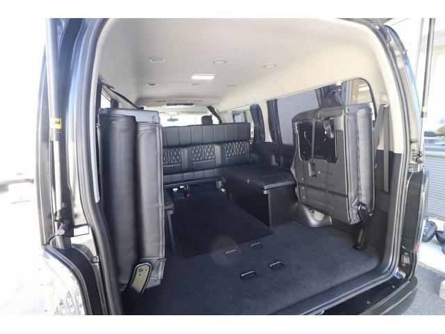 ベッドキット REVOシート 3列目シート外し GLベース ローダウン2インチブロック 構造変更済 ツインモニター レザー調シートカバー LEDテール ウッド調インテリアパネル フリップダウンモニター LEDヘッドライト パワースライドドア(56枚目)