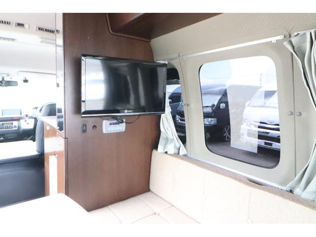 キャンピングカー ビークル デュオ タイプC 9人乗り FFヒーター TV 冷蔵庫 外部電源 ツインサブバッテリー 1500Wインバーター 4WD SDナビ LEDヘッドライト シンク カセットコンロ 強化スタビライザー(10枚目)