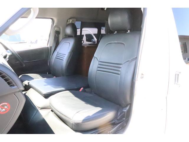 キャンピングカー ビークル デュオ タイプC 9人乗り FFヒーター TV 冷蔵庫 外部電源 ツインサブバッテリー 1500Wインバーター 4WD SDナビ LEDヘッドライト シンク カセットコンロ 強化スタビライザー(34枚目)