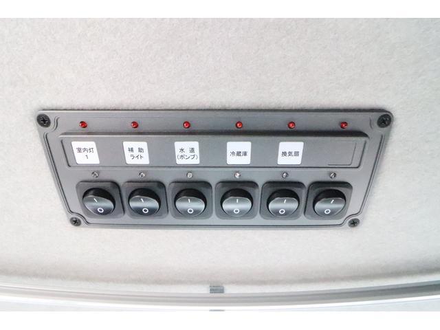 キャンピングカー ビークル デュオ タイプC 9人乗り FFヒーター TV 冷蔵庫 外部電源 ツインサブバッテリー 1500Wインバーター 4WD SDナビ LEDヘッドライト シンク カセットコンロ 強化スタビライザー(53枚目)