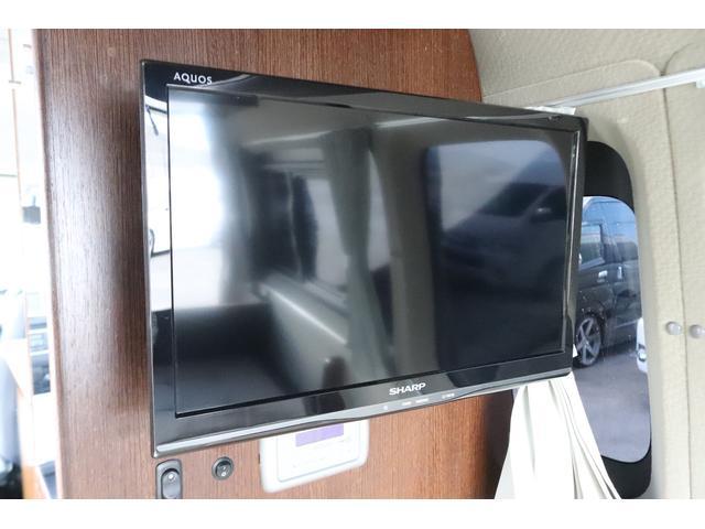 キャンピングカー ビークル デュオ タイプC 9人乗り FFヒーター TV 冷蔵庫 外部電源 ツインサブバッテリー 1500Wインバーター 4WD SDナビ LEDヘッドライト シンク カセットコンロ 強化スタビライザー(74枚目)