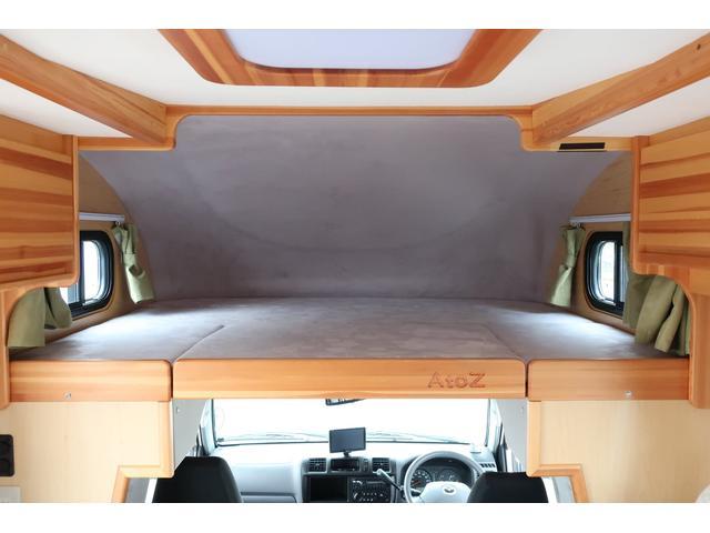 キャンピングカー AtoZ アミティ 6名乗車 ツインサブBT 350Wインバーター 冷蔵庫 外部電源 シンク シンク兼用アウターシャワー 給排水ポリタンク ETC ルーフベント バックモニター ドライブレコーダー 常設2段ベッド(9枚目)