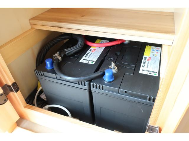 キャンピングカー AtoZ アミティ 6名乗車 ツインサブBT 350Wインバーター 冷蔵庫 外部電源 シンク シンク兼用アウターシャワー 給排水ポリタンク ETC ルーフベント バックモニター ドライブレコーダー 常設2段ベッド(38枚目)