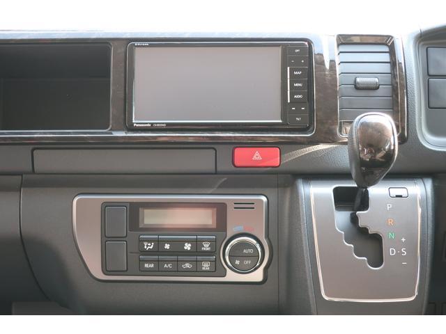 バンコン ダイレクトカーズ製 8人乗り 1ナンバー SDナビ バックカメラ ETC フリップダウンモニター リヤクーラー リヤヒーター フルフラットベッド 両側スライドドア ホワイトパールクリスタルシャイン 6AT オートエアコン(13枚目)
